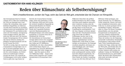 WrZeitung101215_HolzingerKlimakonferenz